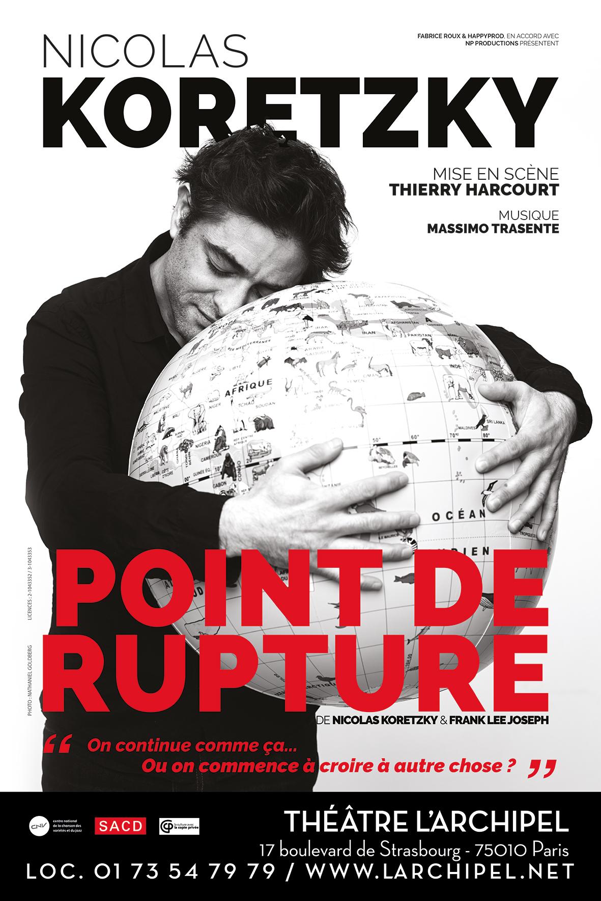 Point de rupture théâtre critique affiche Nicolas koretzky Théâtre de l'Archipel