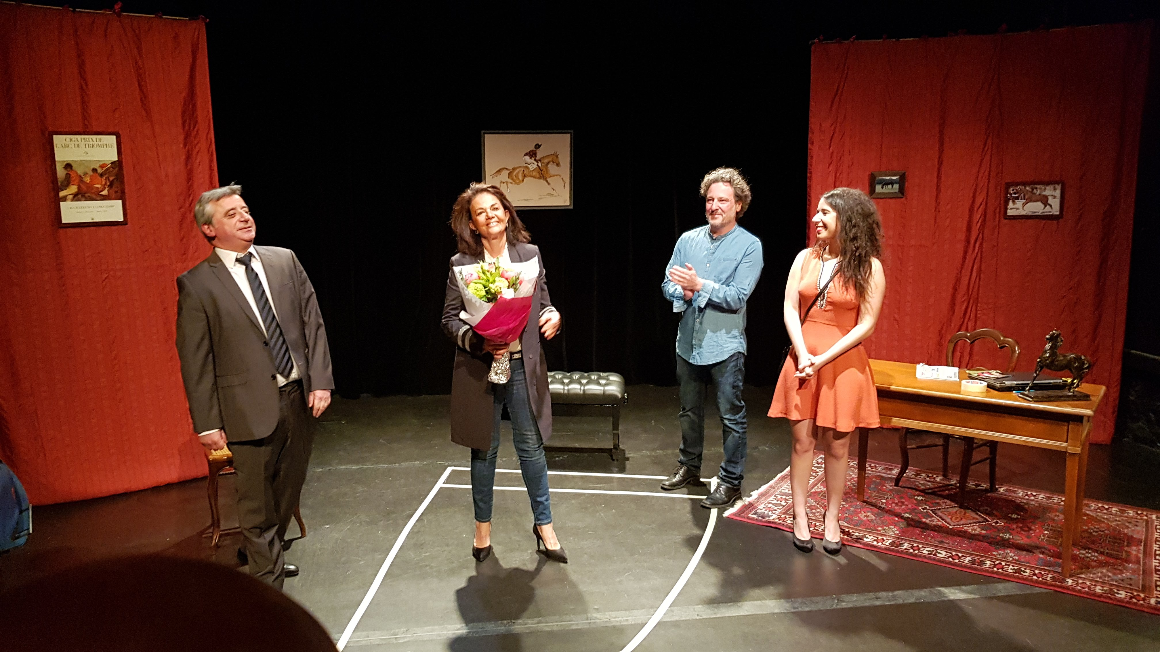 """Leïla Tabaï, Frédéric Jacquot, Nicolas Georges """"2 mètres 74"""" au Studio Herbertot."""